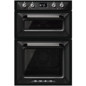 Smeg Victoria Built In Black Electric Double Oven